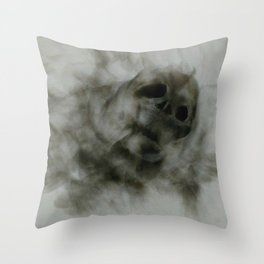 """Smoke and Bones"" Throw Pillow"