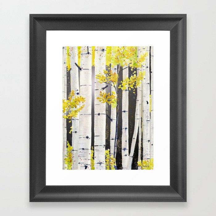 Birch Tree Gerahmter Kunstdruck