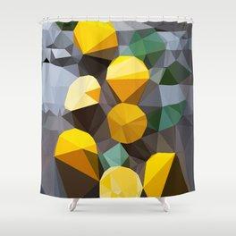 lemonade abstract geometrical art Shower Curtain