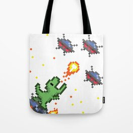 Pixel Dino Tote Bag