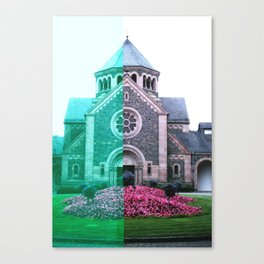 Cracked church... Canvas Print