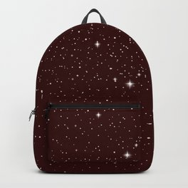 Red galaxy stars Backpack