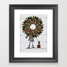 Flowerhead girl.  Framed Art Print