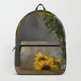 Five Sunflowers Centered Backpack