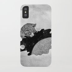 Space and the Cat Slim Case iPhone X