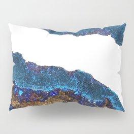 Agate metallic blue & gold Pillow Sham