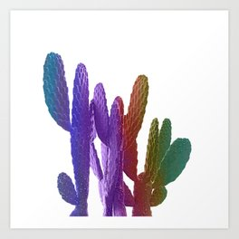Unicorn Cactus Art Print
