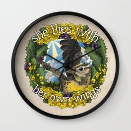 She Flies With Her Own Wings Wall Clock