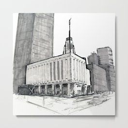 Manhattan, New York Temple Metal Print