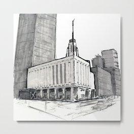 Manhattan, New York Temple Metal Print