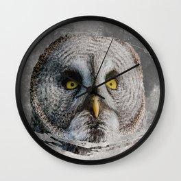 MOON OWL Wall Clock