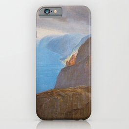 Kauai's North Shore, Napali Coast and Pacific Ocean tropical landscape painting by D. Howard Hitchcock iPhone Case