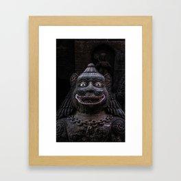 Guardian Statue Framed Art Print
