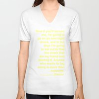 wes anderson V-neck T-shirts featuring Life Aquatic Steve Zissou Wes Anderson Movie Quote by FountainheadLtd