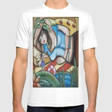 Waking in Fairy Land MEDIUM White Mens Fitted Tee