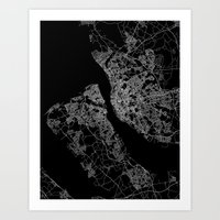 liverpool Art Prints featuring Liverpool by Line Line Lines