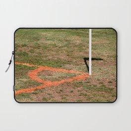 Orange Soccer Corner Laptop Sleeve