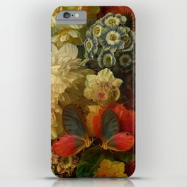 """""""Baroque Spring of Flowers and Butterflies"""" iPhone Case"""