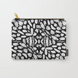 Black and White Grunge Abstract Pattern Carry-All Pouch