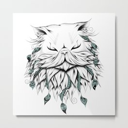Poetic Persian Cat Metal Print