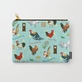 Cute seamless roosters pattern cartoon Carry-All Pouch