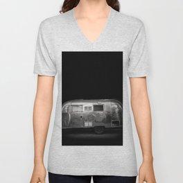 Vintage Airstream Camper Trailer Unisex V-Neck