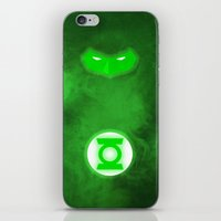 green lantern iPhone & iPod Skins featuring Green Lantern by theLinC