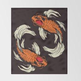 Two Koi Throw Blanket