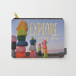 Explore. Get lost often. Carry-All Pouch