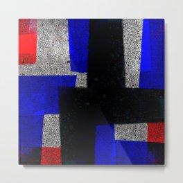 Abstract Tiles Metal Print