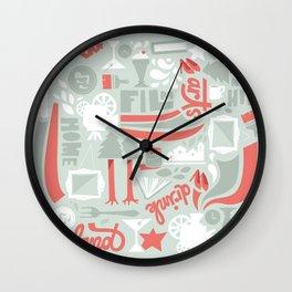Garland Pattern Wall Clock