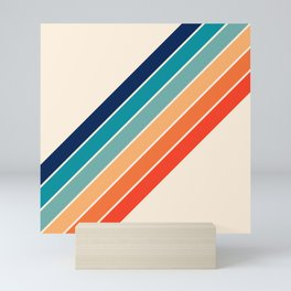 Karanda - 70s Style Classic Retro Stripes Mini Art Print