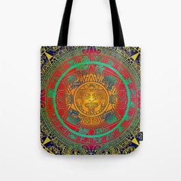Aztec Sun God Tote Bag