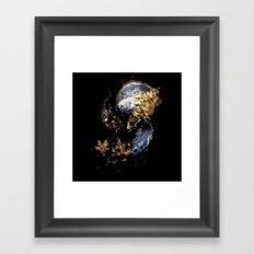 Venetian Mask Blue Devil Framed Art Print