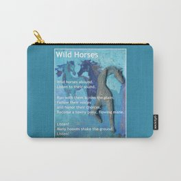 Wild Horses: Poem and Painting Carry-All Pouch