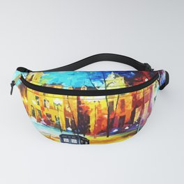 Tardis Art Starry Street Night Fanny Pack