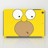 simpson iPad Cases featuring Surprised Homer Simpson by julien tremeau