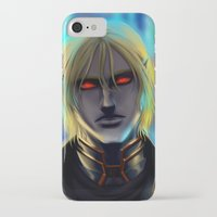 cyberpunk iPhone & iPod Cases featuring Cyberpunk Elf Vampire by Sandra Danborg