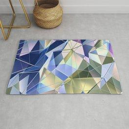 Pastel Fractal Abstract Geometric Print Rug