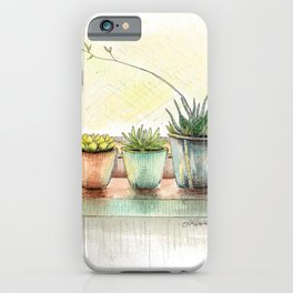 Succulents on a Window Sill iPhone Case