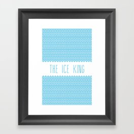 the ice king pattern...mathamatical! Framed Art Print