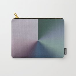 Line Gradient / Papa Green & French Grey Carry-All Pouch