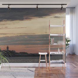 Painted sky over ten pound island light Wall Mural