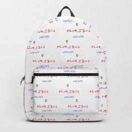 Motto of USA. E pluribus unum. Backpack
