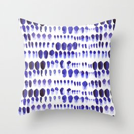 Ultra Violet Paint Splodges Throw Pillow