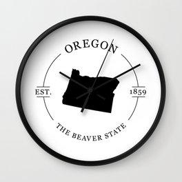 Oregon - The Beaver State Wall Clock