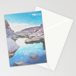 Exotic white rock formation near Mekong River Stationery Cards