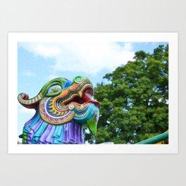 Chinese Dragon Ride Art Print