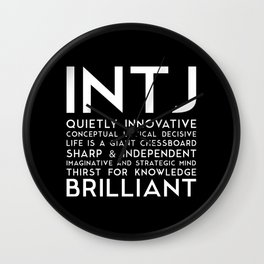 INTJ (black version) Wall Clock