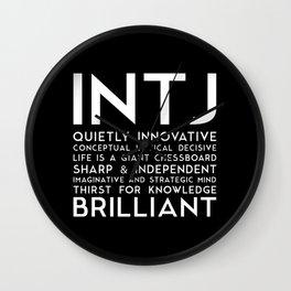 INTJ (black version) Wall Clock